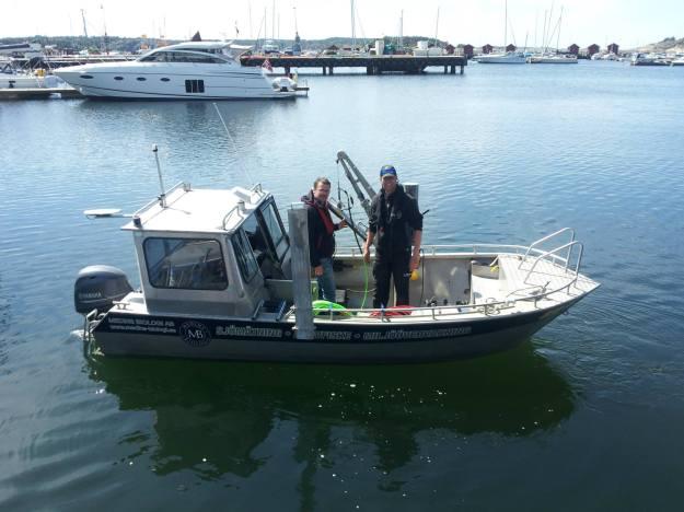 Från denna båt gjordes sonarundersökningen
